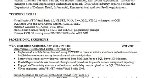How To Access Resume Templates In Word 2008 by Net Programmer Analyst Resume Format In Word Free