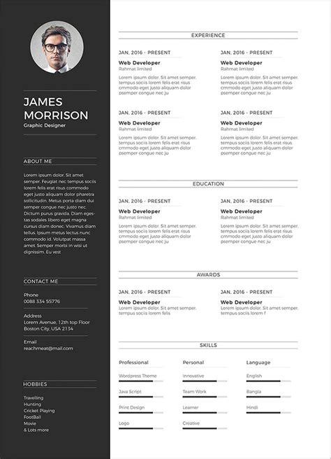 free minimal cv resume template in word ai psd good