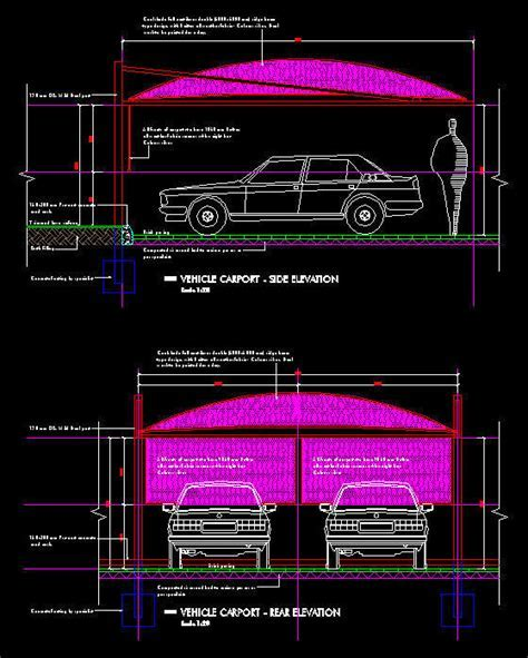 CAD DETAILS : CARPORT: 2 BAY   FULL CANTILEVER SHADE NET