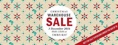 christmas warehouse sale imbuko wins wellington