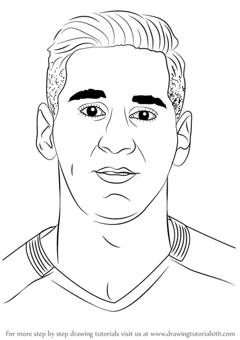 Step by Step How to Draw Lionel Messi ...