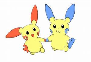 Minun and Plusle by Max2201 on deviantART