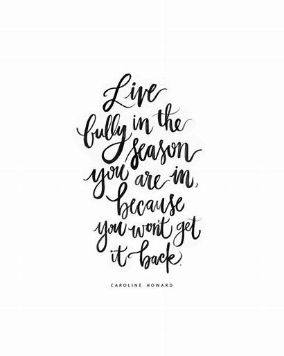 Quotes Positive Season Words Lettering Cursive Why