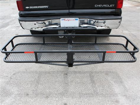 luggage rack for car iron 60 quot folding cargo carrier basket hitch hauler