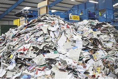 Waste Paper Recycled Papers Recycling Pile Recycle