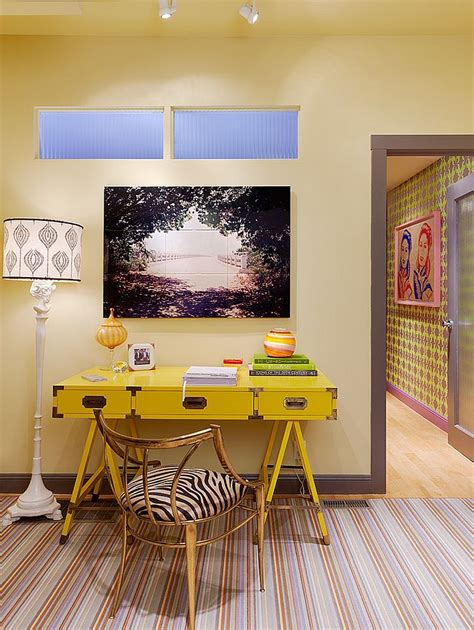 decor bureau energize your workspace 30 home offices with yellow radiance