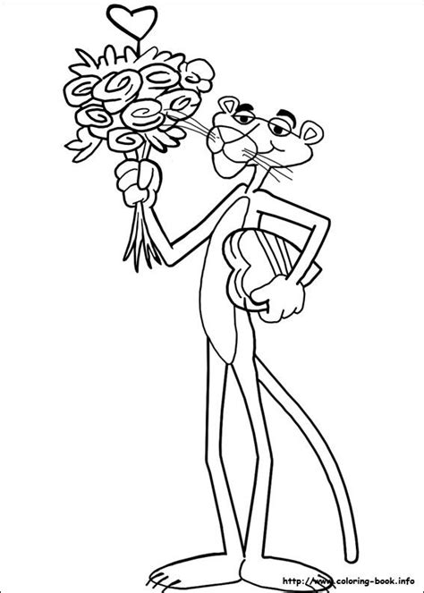 pink panther coloring picture ez easy coloring pagez