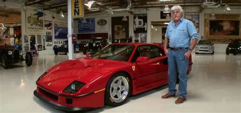 first ferrari race jay leno 39 s first ferrari f40 drive sees him searching for