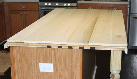 kitchen islands with butcher block top remodelaholic how to create faux reclaimed wood countertops