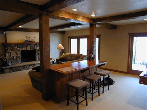 basement remodel traditional basement milwaukee  fein design
