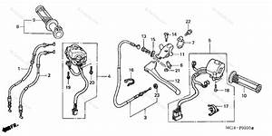 Honda Motorcycle 2001 Oem Parts Diagram For Cable    Switch