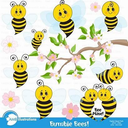 Bee Bees Clipart Honey Bumble Hive Scrapbook