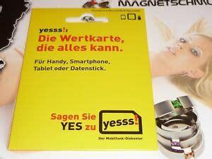 yesss austria pre paid sim karte von  telekom