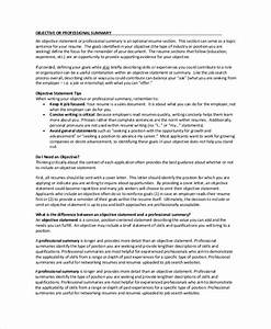 Examples Of Resumes For Customer Service Jobs Free 8 Resume Summary Templates In Pdf Ms Word