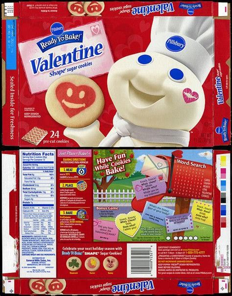 Label may not list these calories. Pillsbury Ready-to-Bake Back To School Shape Sugar Cookies ...