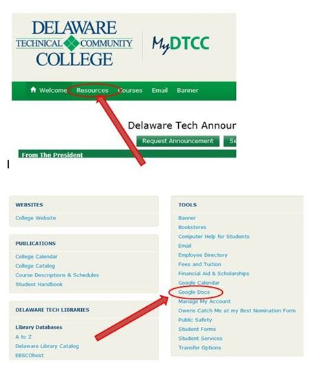 How to Sign into Google Docs from your DTCC Account - NRG ...