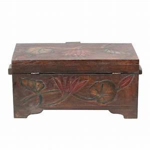 Blumen In Der Box : truhe holzkiste holztruhe schatztruhe kiste box palmenholz holzbox blumen schnitzereien shabby ~ Orissabook.com Haus und Dekorationen