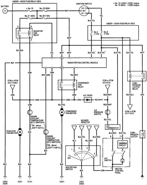 1988 Honda Accord Radio Wiring Diagram by Still Looking For A C Diode In 1996 Honda Accord 2 2l 5
