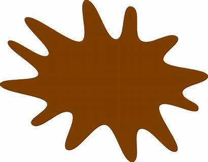 Brown Paint Splat Splatter Clip Clipart Clker