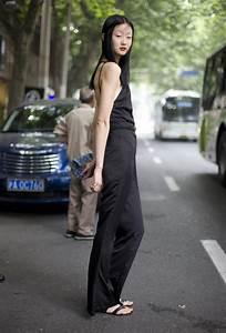 Black Jumpsuit Shanghai Street Fashion Street Peeper