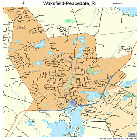 wakefield peacedale rhode island street map