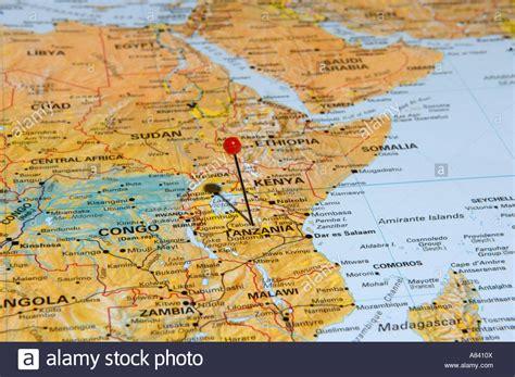 karte von tansania stockfoto bild  alamy