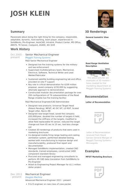senior mechanical engineer resume sles visualcv