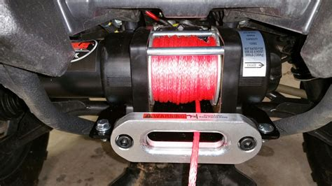 installation    pound extreme bad  winch yamaha grizzly atv forum