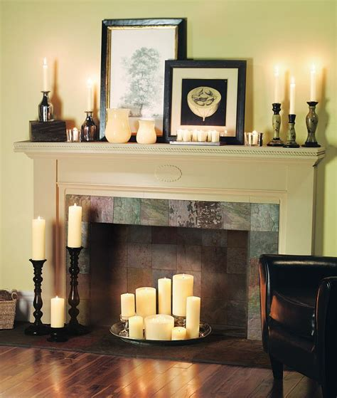 Decorating With Candles Fireplace by Decorating Fireplace With Candles Design Decoration