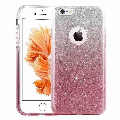 Hoesje Glitter Roze Iphone 5s 6s Case