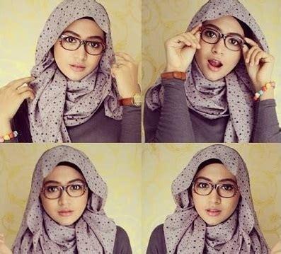 pakai hijab segi empat simple  cantik  kamu