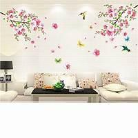 great flower wall decals Cherry Blossom Tree Flower Butterfly Wall Sticker Vinyl Art Mural DIY Decals US | eBay