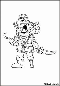 Ausmalbilder, Pirat, Kostenlos