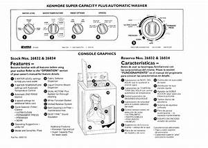 Kenmore Washer 26832 User Guide