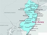 Map of New Jersey | State Map of USA | United States Maps
