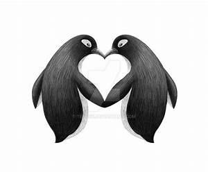 Penguin love by Tenrex on DeviantArt | Penguin tattoo ...