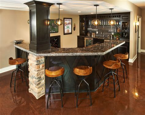 Pub Style Barroom   Contemporary   Home Bar   columbus