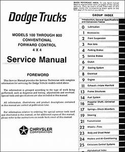 1975 Dodge Pickup And Truck Original Shop Manual 75