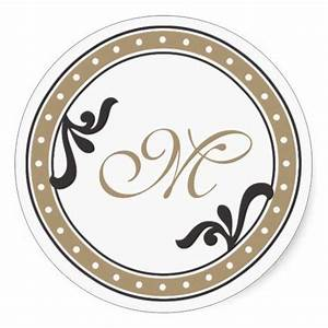 143 best images about monogram stickers on pinterest With monogram letter seals