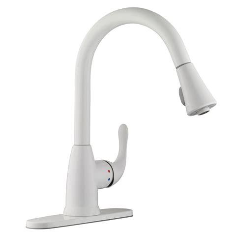 white pull kitchen faucet glacier bay market single handle pull sprayer kitchen