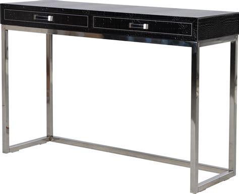 Faux Croc Leather Console Table   Console tables