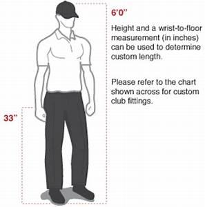 Golf Club Length To Height Chart Wrist To Floor Measurement Golf Chart Viewfloor Co