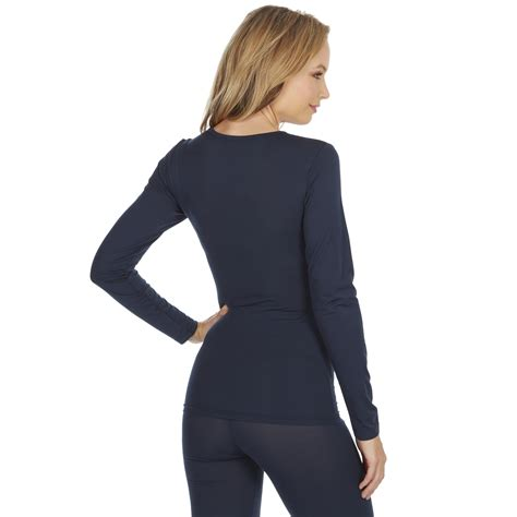 Women Ladies Long Sleeve Thermal Top Warm Winter Base ...