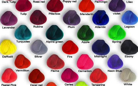 Pravana Chromasilk Vivids Hair Color Chart