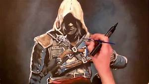 Painting Assassin's Creed, Edward Kenway (time lapse ...
