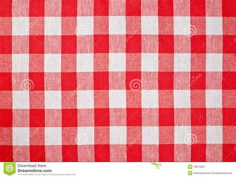 Red Checked Fabric Tablecloth Stock Image   Image: 16875201