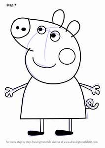 learn how to draw peppa pig from peppa pig peppa pig With peppa pig drawing templates