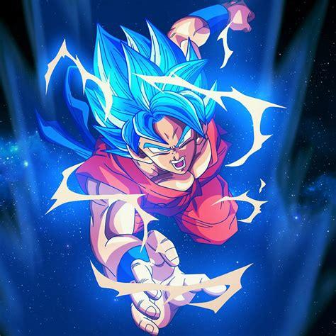bc dragonball goku blue art illustration anime wallpaper
