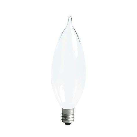 ge 40 watt incandescent ca10 bent tip decorative