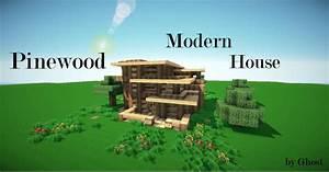 Pinewood Modern House Minecraft Project